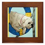Bulldog Agility Design Framed Tile