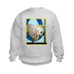 Bulldog Agility Design Kids Sweatshirt