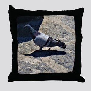 Pigeon in Italy Throw Pillow
