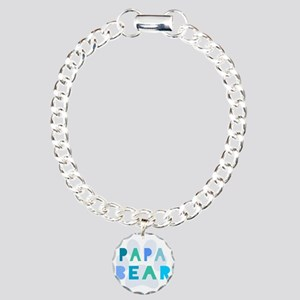 Papa bear Charm Bracelet, One Charm