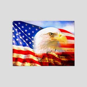 American Bald Eagle Collage 5'x7'Area Rug