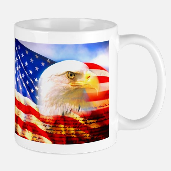 American Bald Eagle Collage Mugs