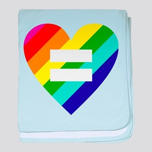 Rainbow love equals love baby blanket