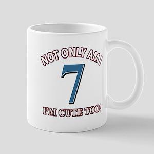 7 year old birthday designs Mug