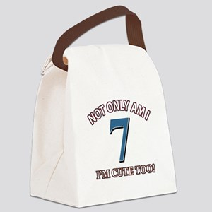 7 year old birthday designs Canvas Lunch Bag