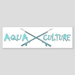 AQUA CULTURE SPEARGUNS aqua purpl Sticker (Bumper)