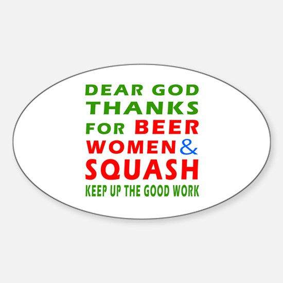 Beer Women and Squash Sticker (Oval)