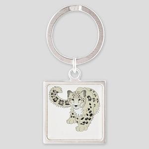 snowleoparddark Square Keychain