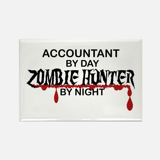 Zombie Hunter - Accountant Rectangle Magnet (100 p
