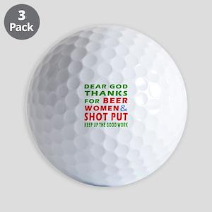 Beer Women and Shot Put Golf Balls