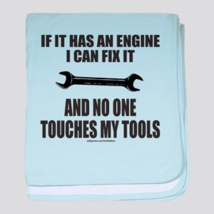 IF IT HAS AN ENGINE baby blanket