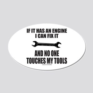 IF IT HAS AN ENGINE 20x12 Oval Wall Decal