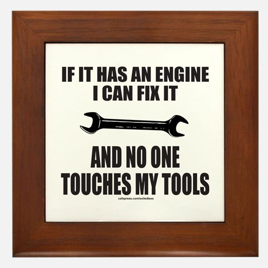 IF IT HAS AN ENGINE Framed Tile