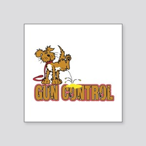 "Piss on Gun Control Square Sticker 3"" x 3"""