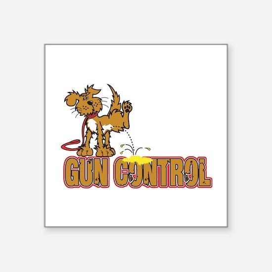 "Piss on Gun Control Square Sticker 3"" x 3"""