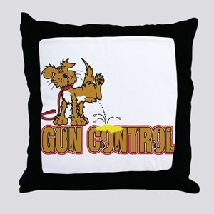 Piss on Gun Control Throw Pillow