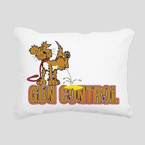 Piss on Gun Control Rectangular Canvas Pillow
