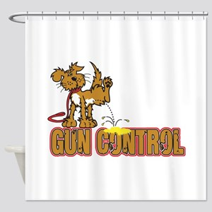 Piss on Gun Control Shower Curtain
