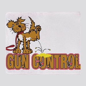 Piss on Gun Control Throw Blanket