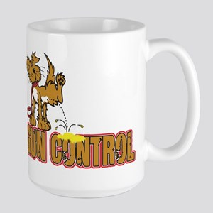 Piss on Gun Control Large Mug