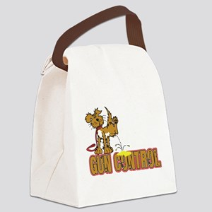 Piss on Gun Control Canvas Lunch Bag