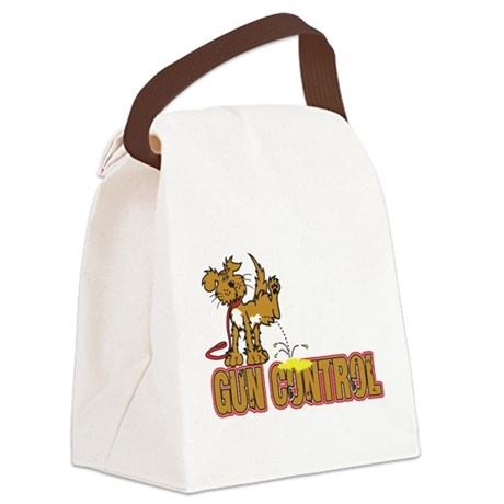 Piss on Gun Control Canvas Lunch Bag