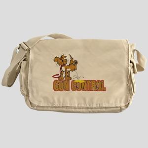 Piss on Gun Control Messenger Bag