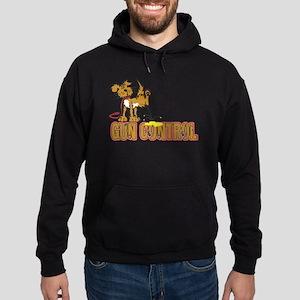 Piss on Gun Control Hoodie (dark)