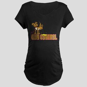 Piss on Gun Control Maternity Dark T-Shirt