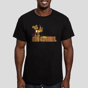 Piss on Gun Control Men's Fitted T-Shirt (dark)