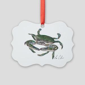 crab  colored Picture Ornament
