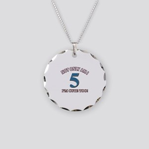 5 year old birthday designs Necklace Circle Charm