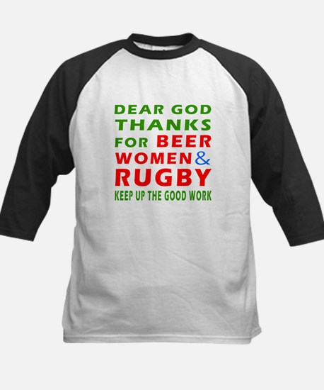 Beer Women and Rugby Kids Baseball Jersey
