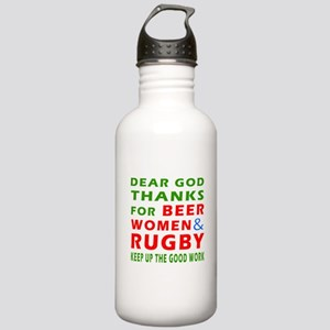 Beer Women and Rugby Stainless Water Bottle 1.0L