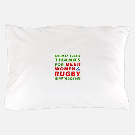 Beer Women and Rugby Pillow Case