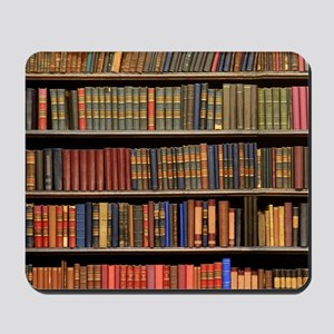 Old Books on Library Shelf Mousepad