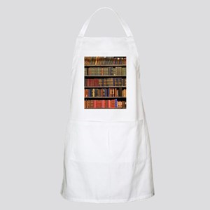 Old Books on Library Shelf Apron