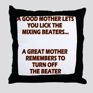 2-GREATMOMBEATERS.LIGHT Throw Pillow
