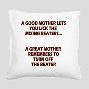 2-GREATMOMBEATERS.LIGHT Square Canvas Pillow