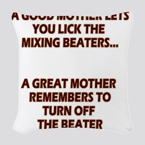 2-GREATMOMBEATERS.LIGHT Woven Throw Pillow