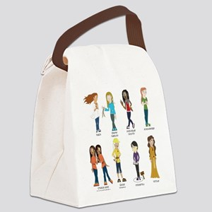 Young Women Values t-shirt Canvas Lunch Bag