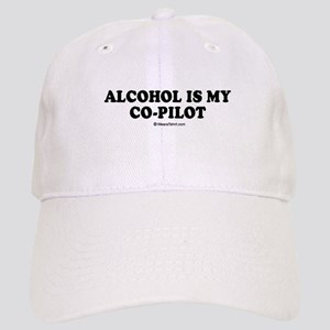 Alcohol is my co-pilot / drinking humor Cap