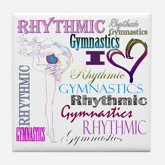 I Heart Rhythmic Gymnastics Tile Coaster