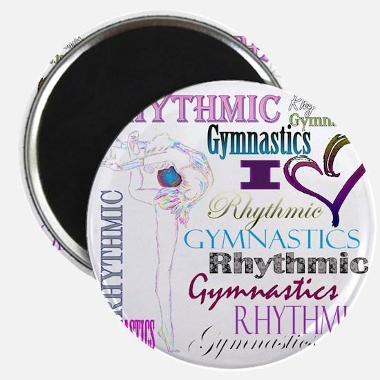 I Heart Rhythmic Gymnastics Magnet