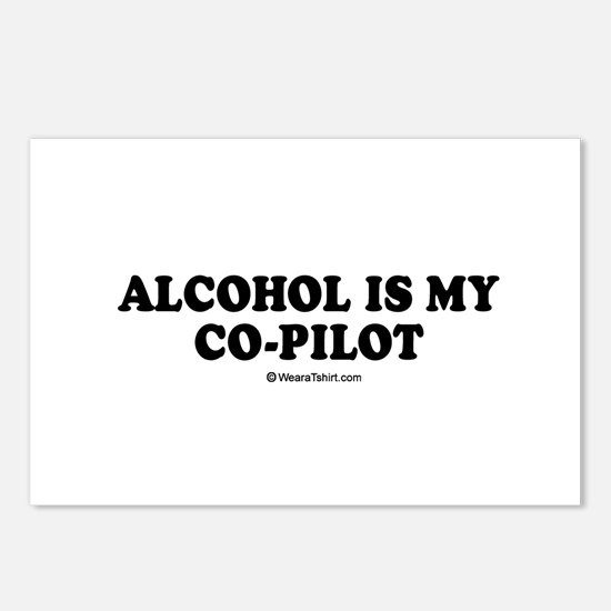 Alcohol is my co-pilot / drinking humor Postcards