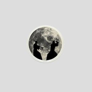 Samurai Moon Mini Button