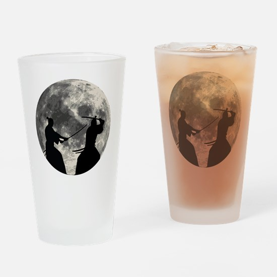 Samurai Moon Drinking Glass
