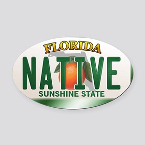 plate-native Oval Car Magnet