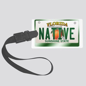 plate-native Large Luggage Tag