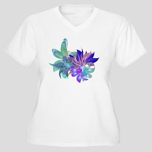 Tropical Arrangem Women's Plus Size V-Neck T-Shirt